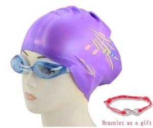 Love House Silicone Long Hair Swim Caps