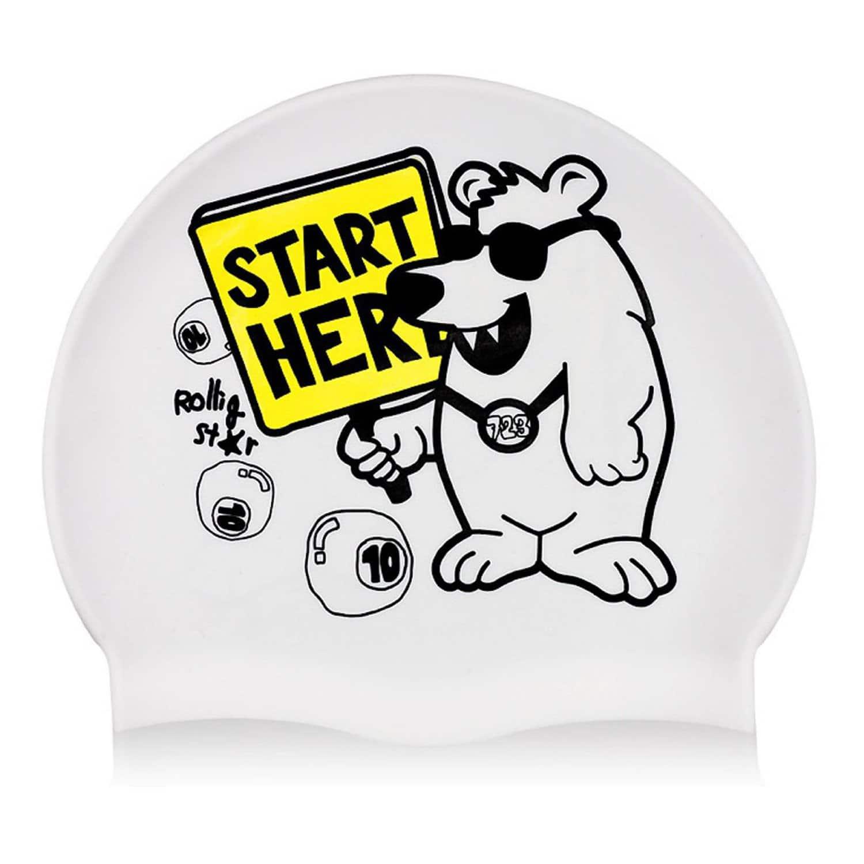 New Funny Polar Bear Pattern Swim Cap