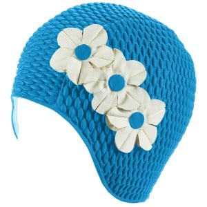 Ruber Bathing Cap with 3 Flowers for Women