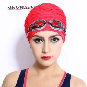 Adult sport long hair swim cap