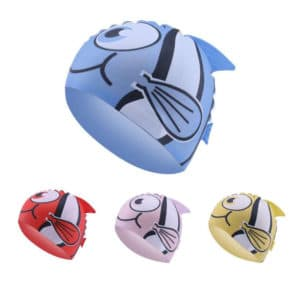 Elastic Fish Toddler Swimming Cap