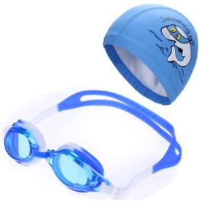 Fabric Dolphin Child Swim Hat & Goggle Set